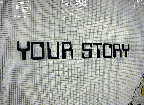 your story written on a wall